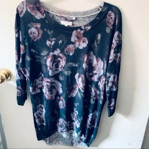 Aritzia Wilfred Floral Top